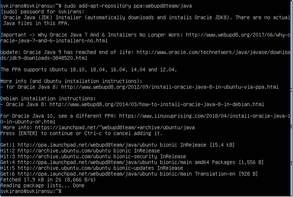 install java on ubuntu 18 04